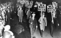 Demonstration mod alkoholforbuddet i 20erne og 30erne